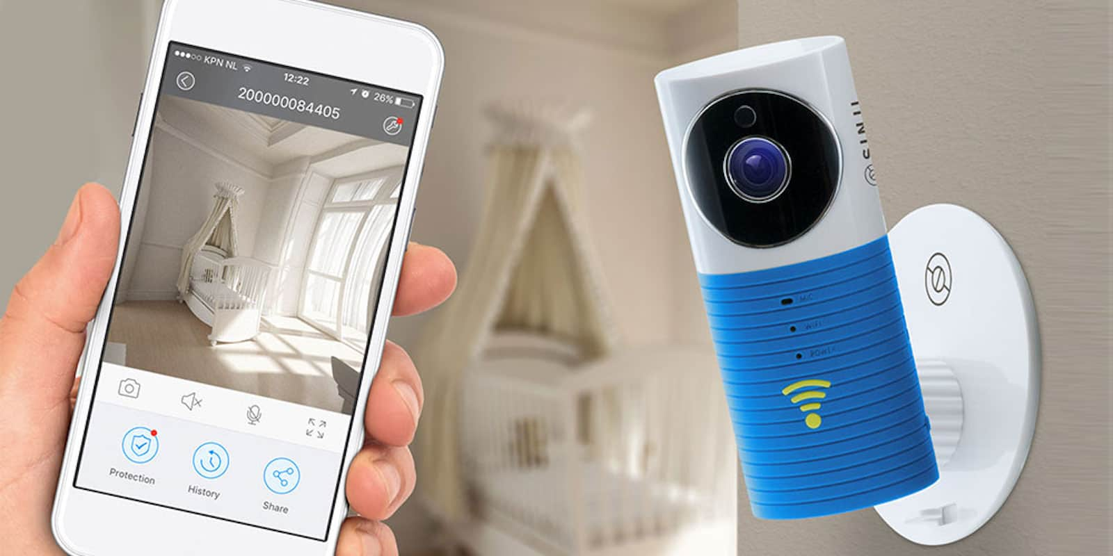 This WiFi camera is ideal for home security, keeping an eye on your baby, or just answering the door.