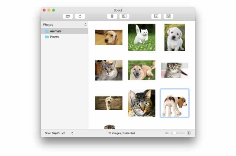Spect is an ultra-light image browser from Panic founder Steven Frank.