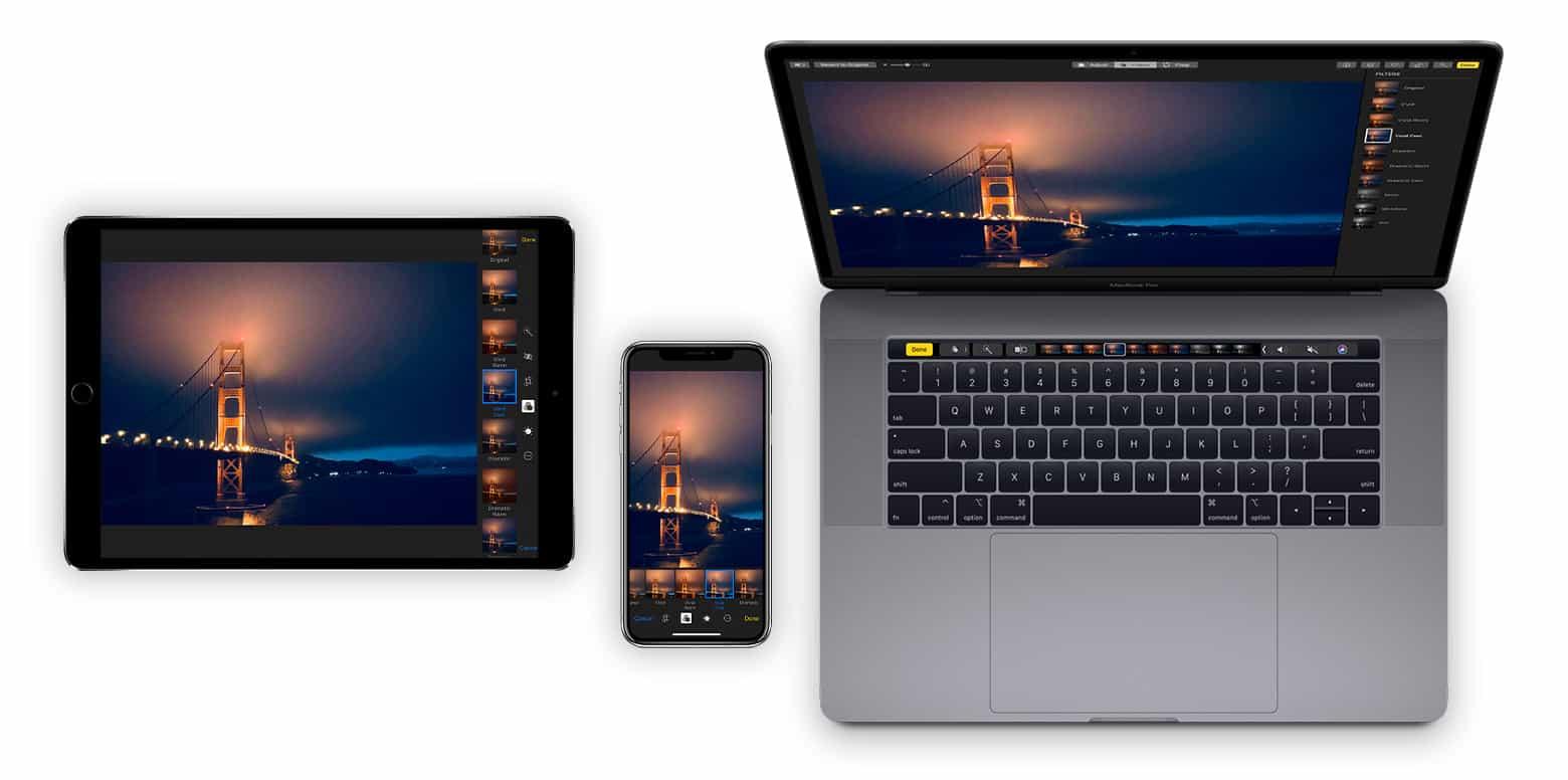 Apple Photos app on iOS or macOS