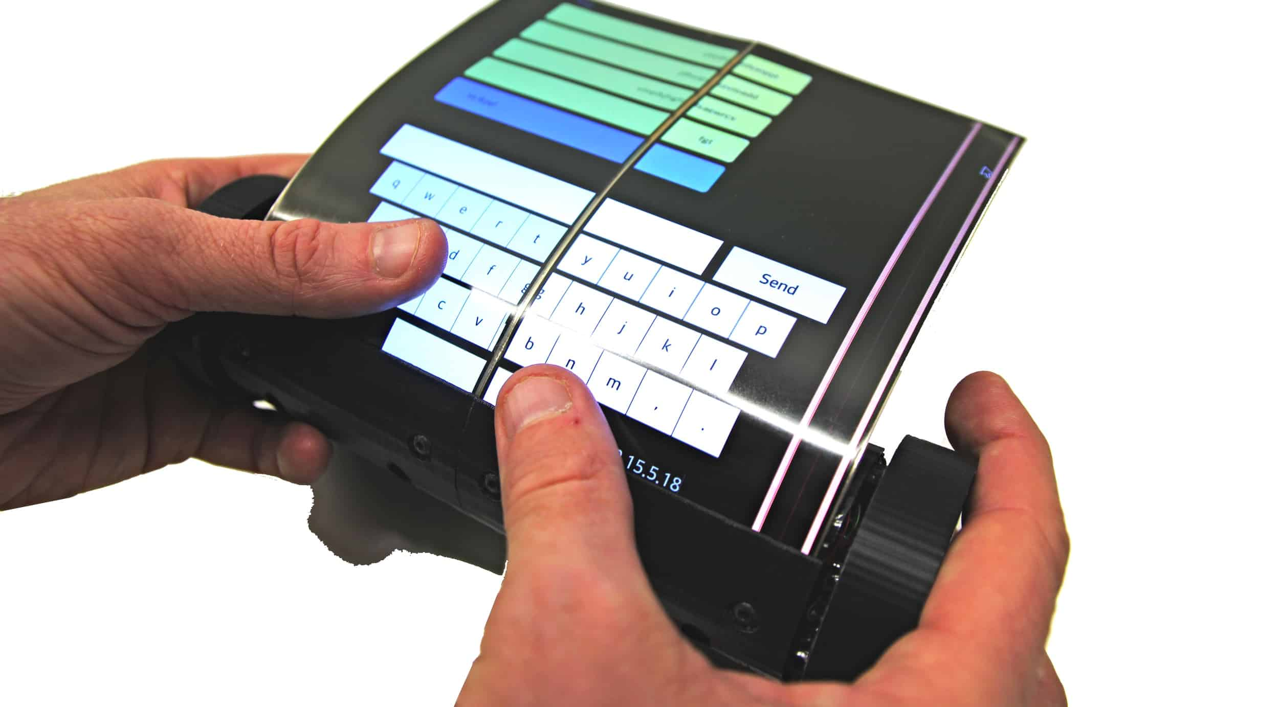 The MagicScroll is a tablet with a display flexible enough to roll into a cylinder.