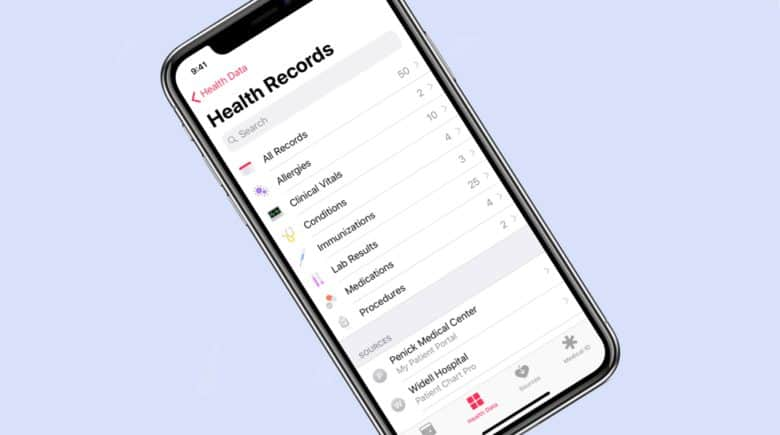 Your health records from nearly 80 hospital can be collected so they're viewable on your iPhone.