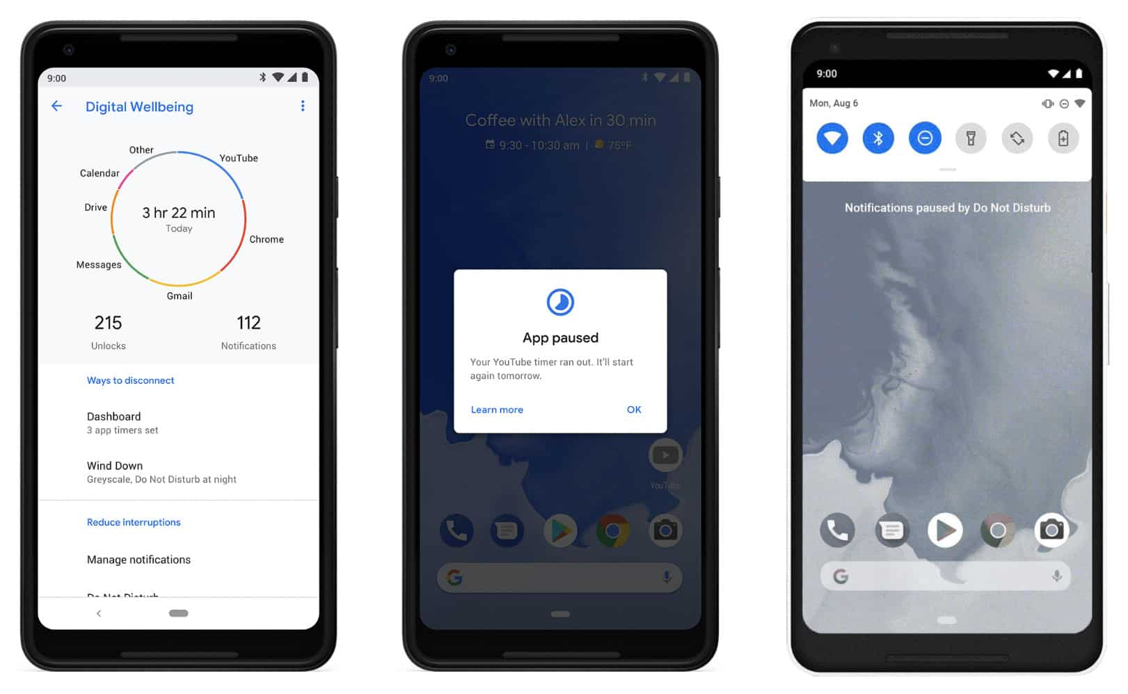 Android Pie digital wellbeing