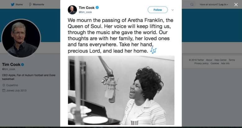 Tim Cook tweet