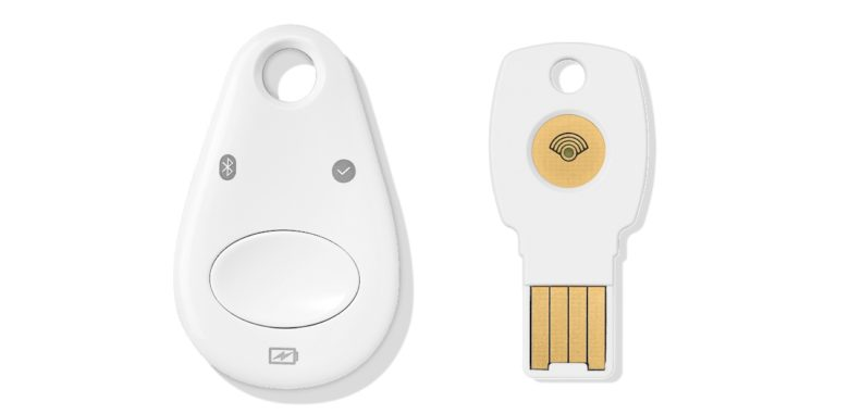 There are two Titan Security Keys, one Bluetooth and the other USB.