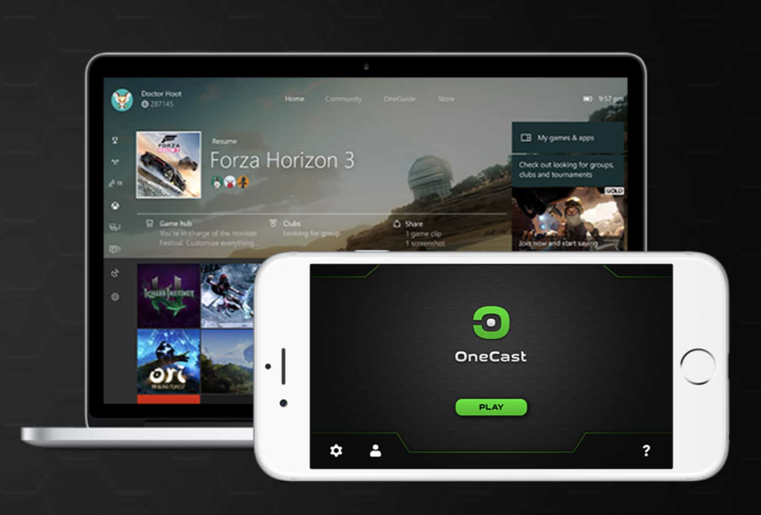 OneCast stream Xbox One games to iPhone and iPad