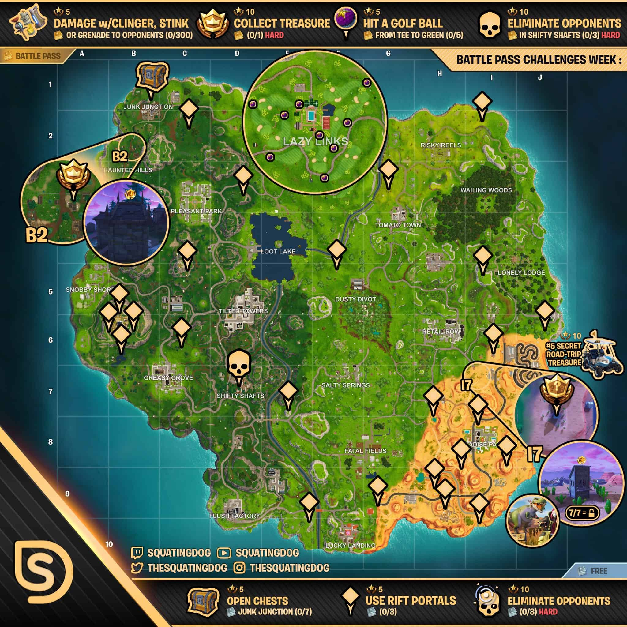 Fortnite Challenge Guide For Season 5 Week 5
