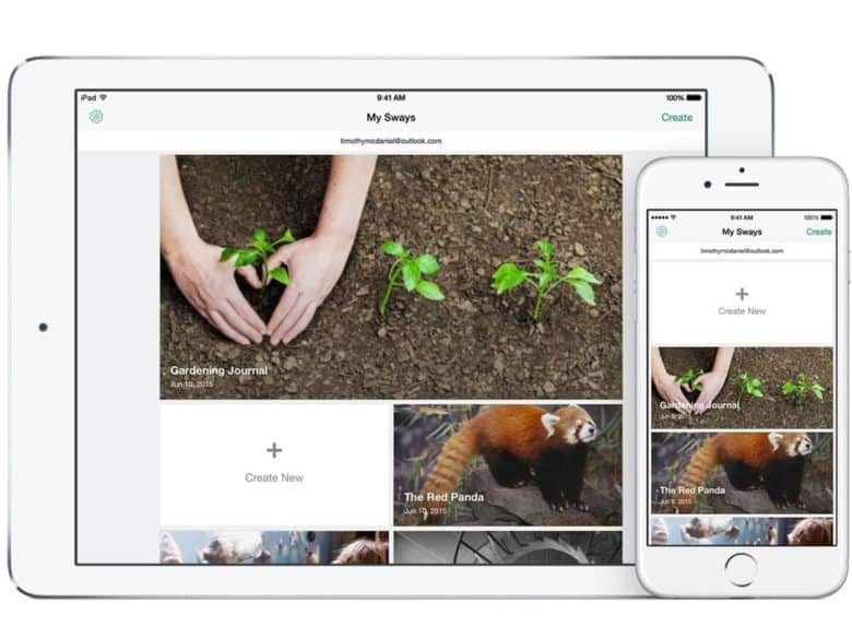 Microsoft Office Sway on iOS