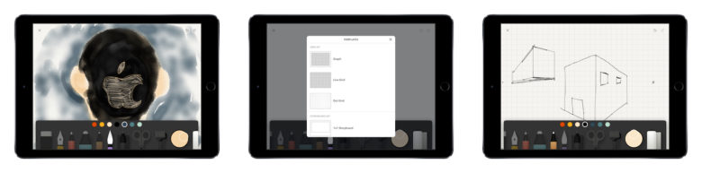 Paper app tools, templates, and drawing