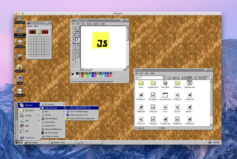 Windows 95 Mac app