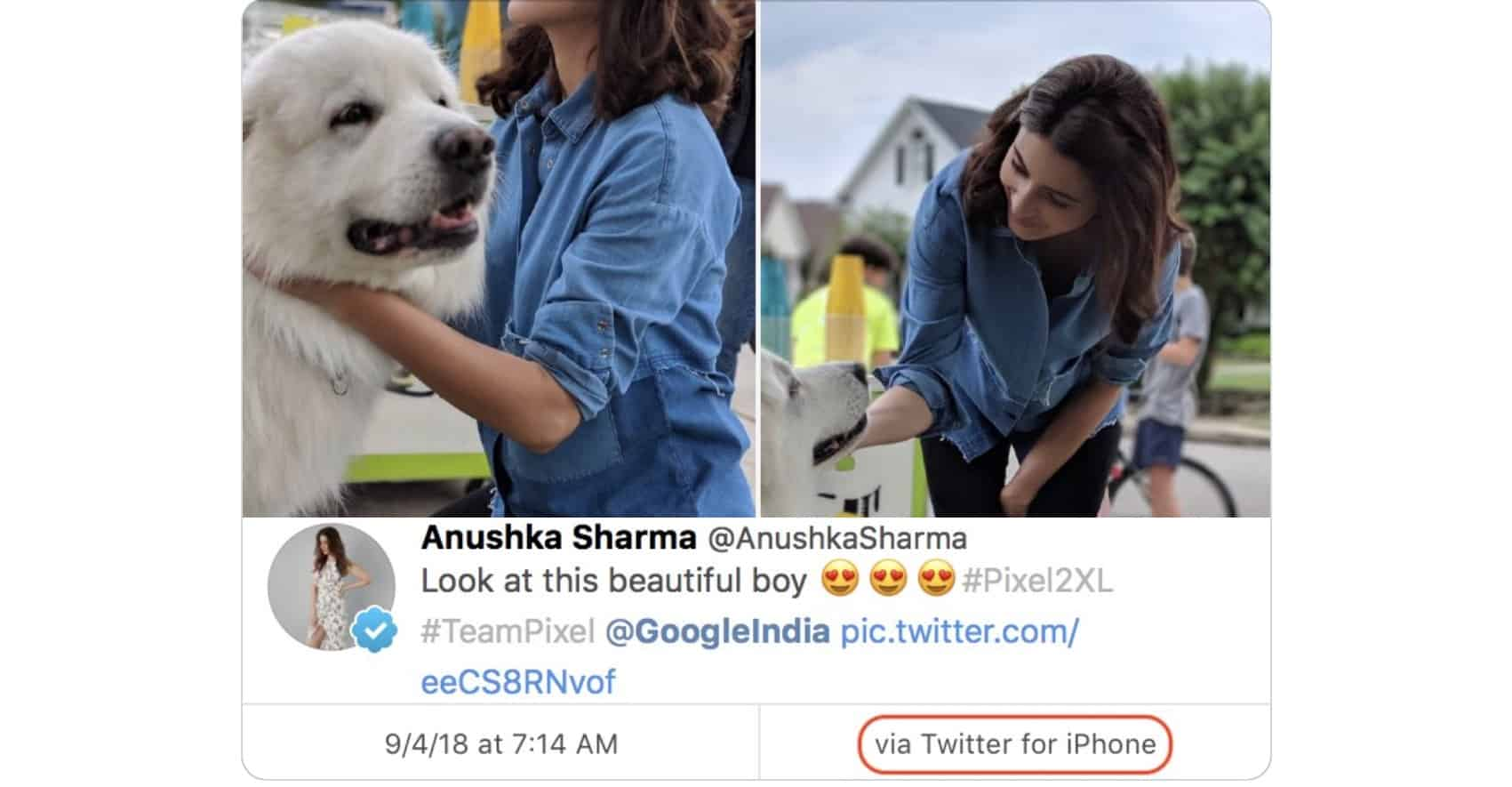 Another Celeb Caught Promoting Android from their iPhone