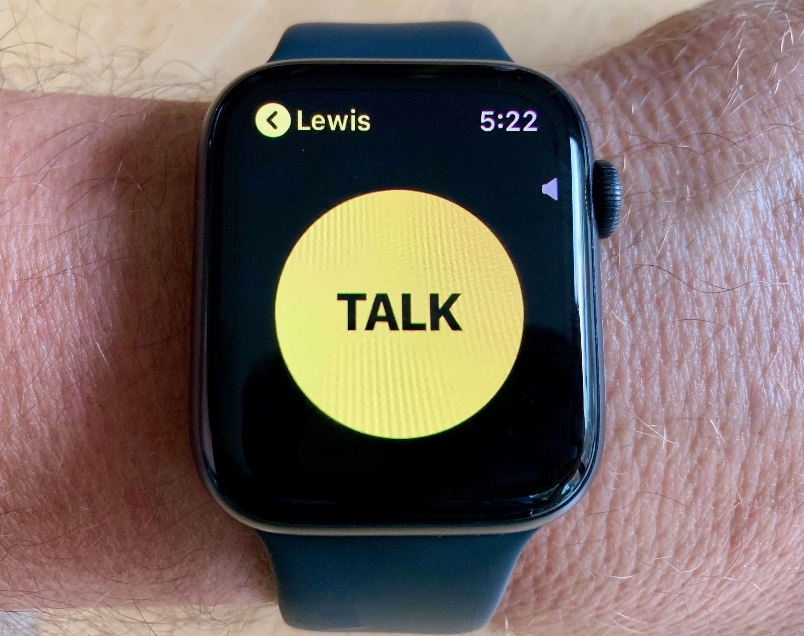 Apple Watch Series 4 Walkie Talkie App