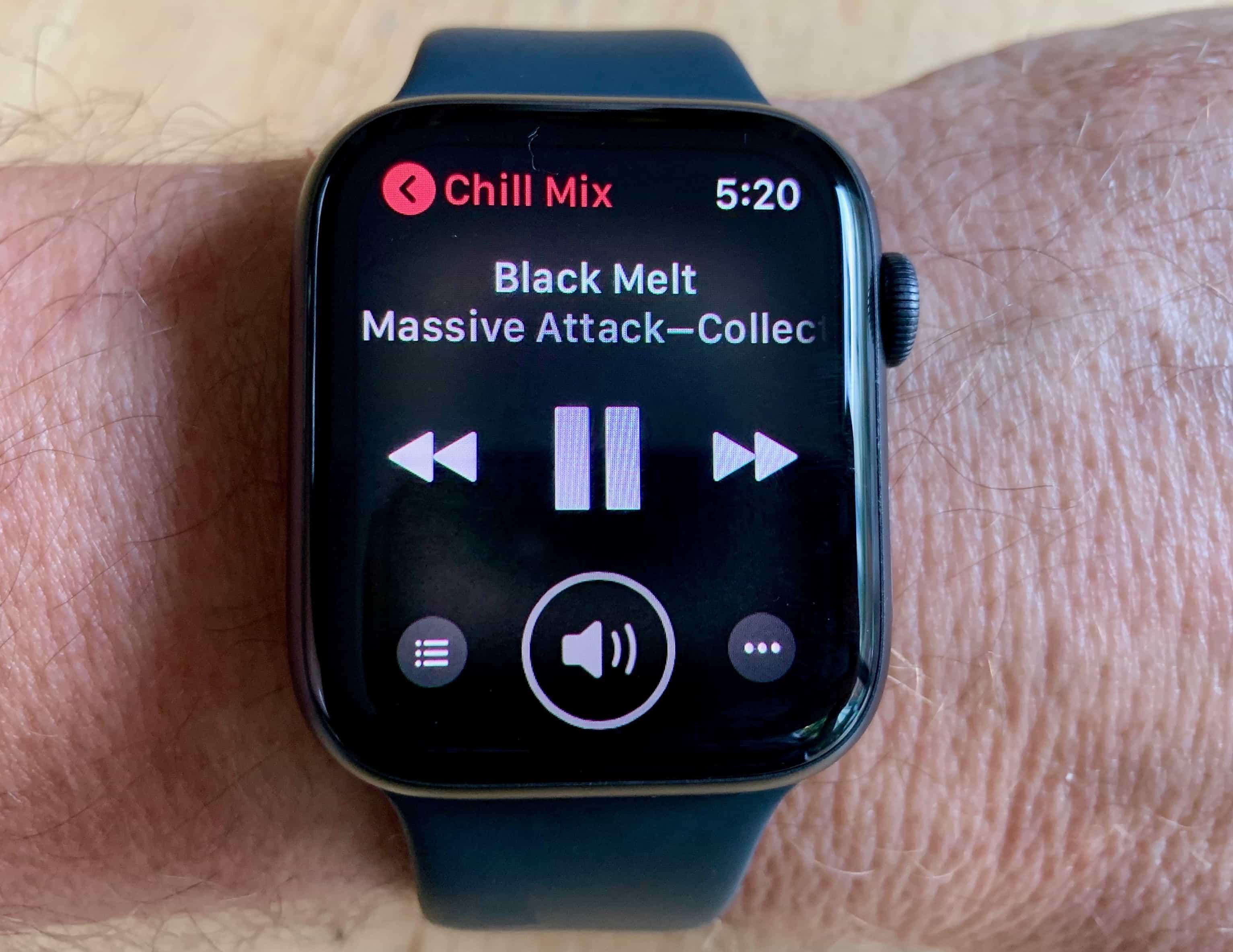 Apple Watch Series 4 Music App