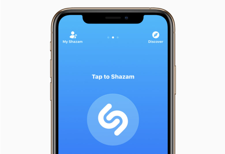Shazam on iPhone XS