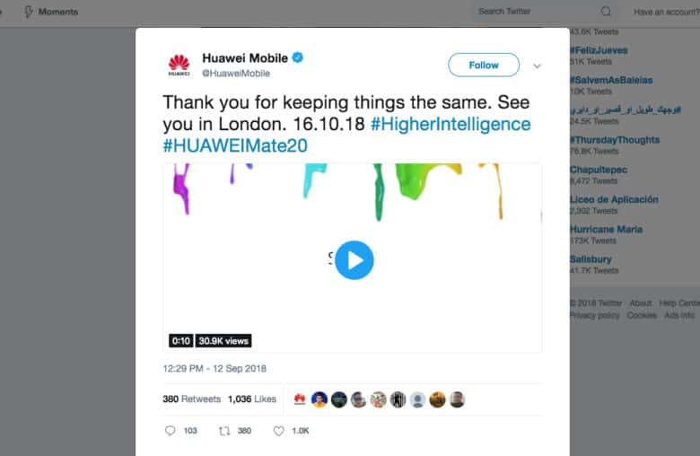 Huawei announces its foldable smartphone plan