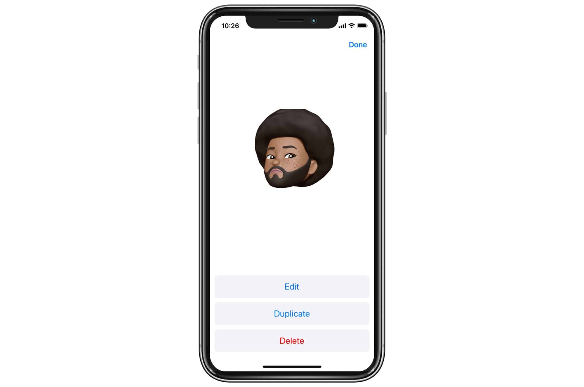 Edit or duplicate your Memoji.