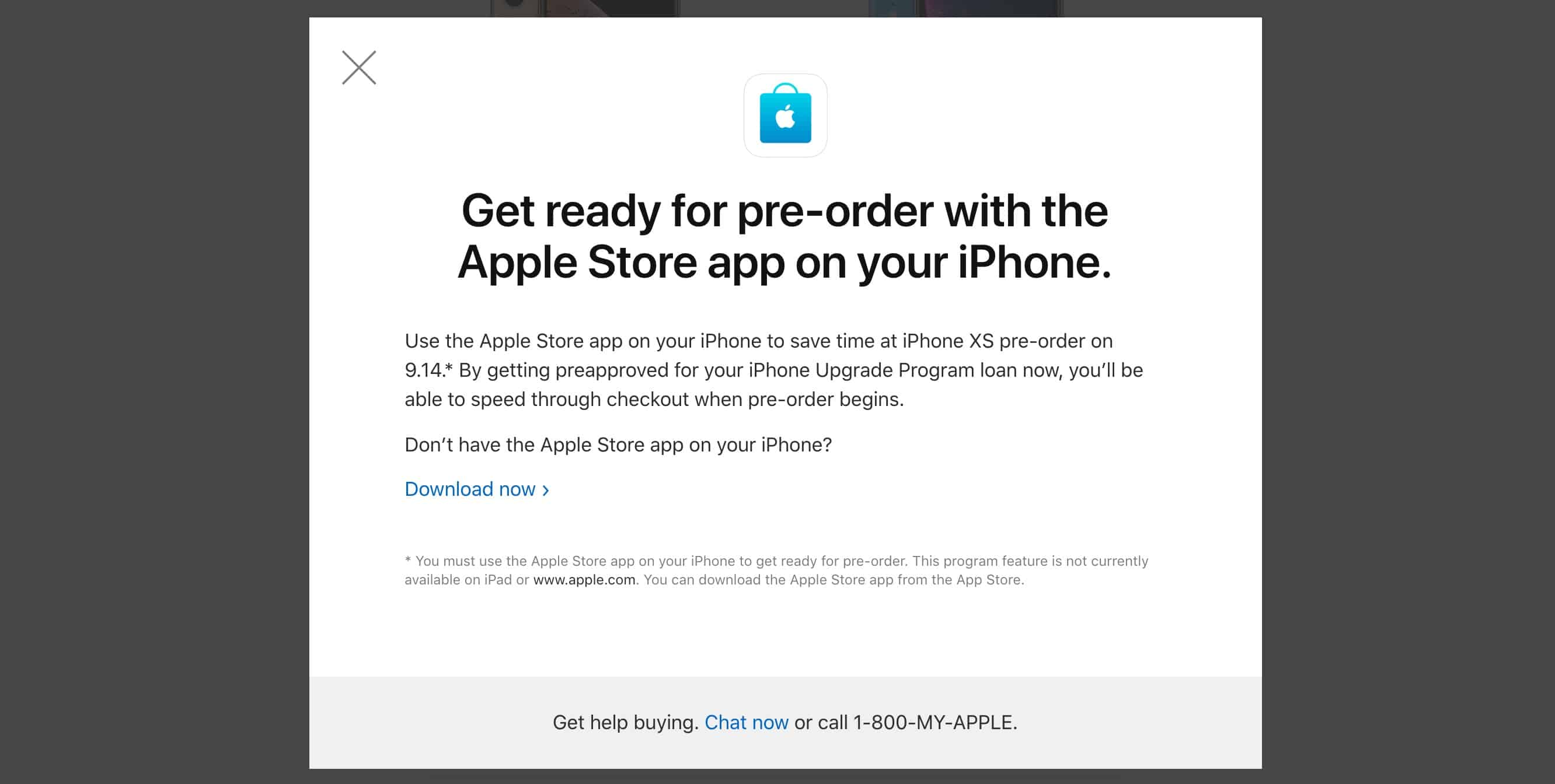 The Apple Store app is the best way to pre-order a new iPhone XS.