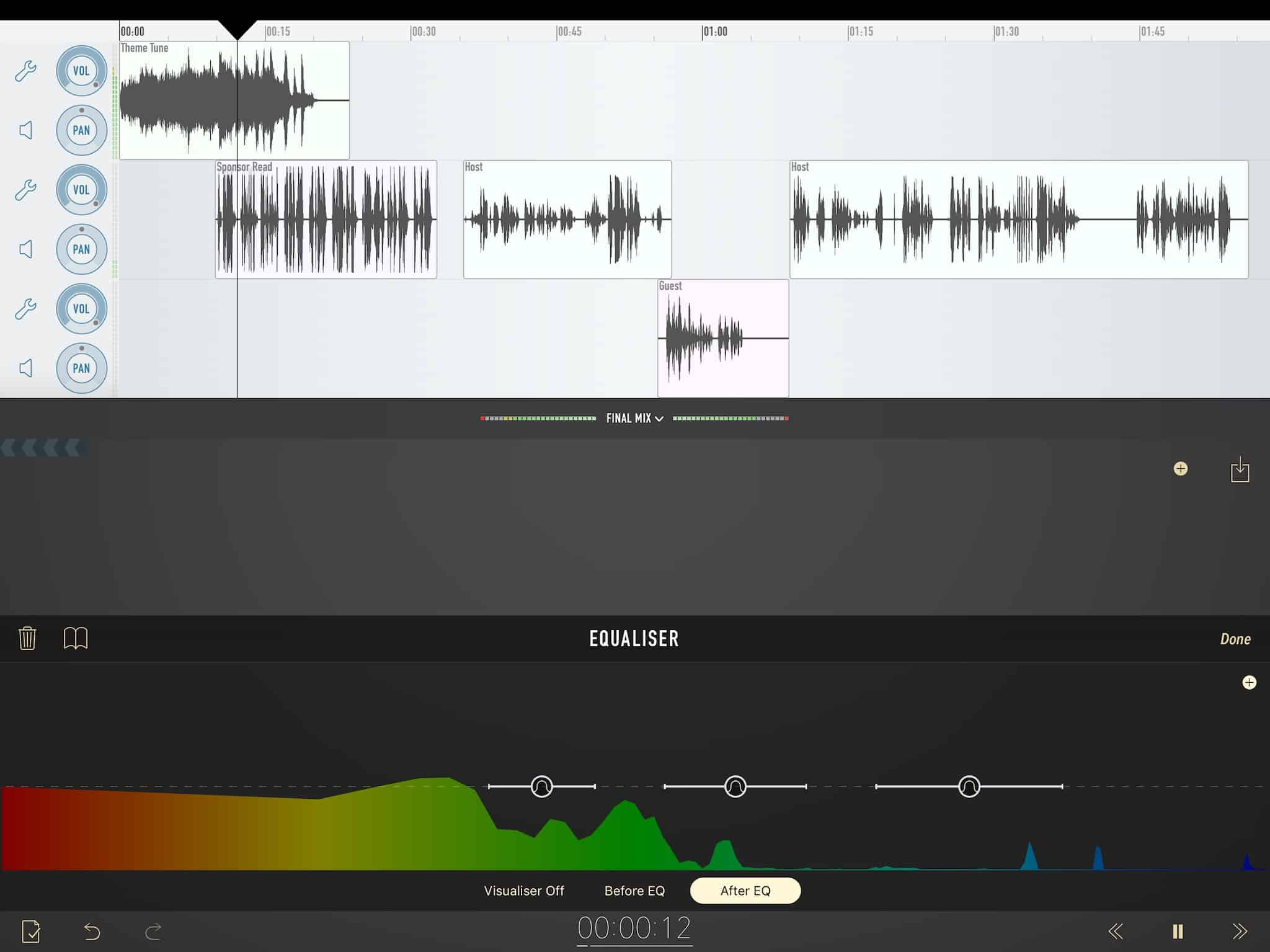 Like a professional recording studio on your iPhone and iPad.