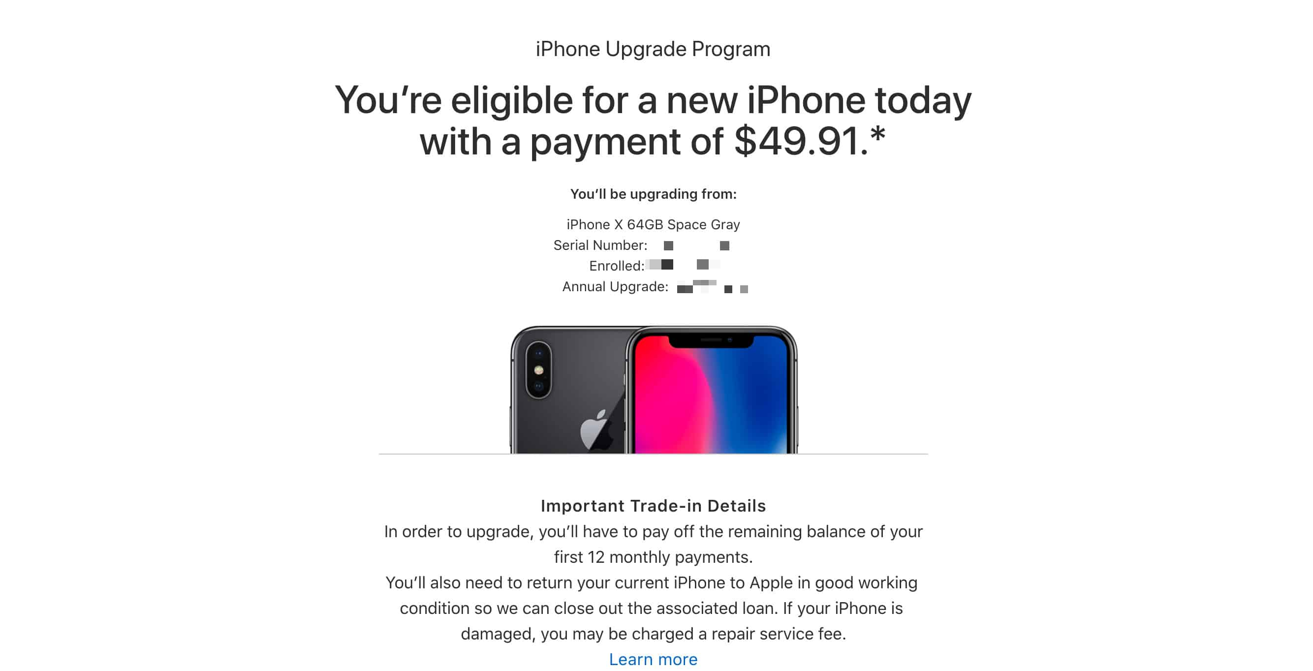 Apple probably sent you an email already.