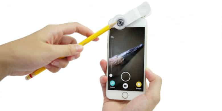 Make the small world visible with this microscope kit for iPhone and iPad.