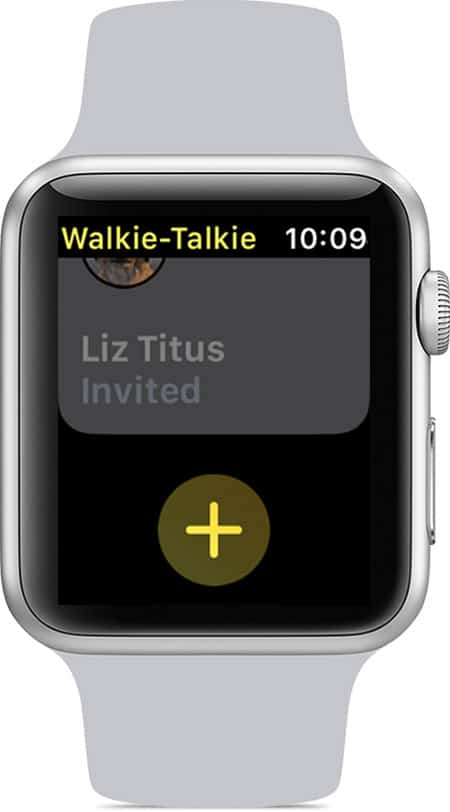Walkie-Talkie invitation.