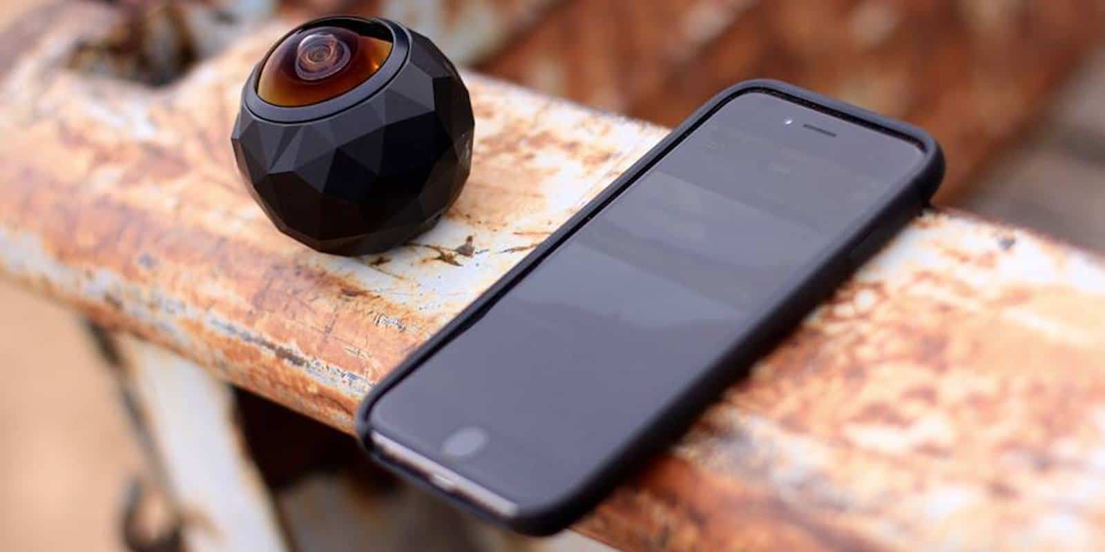 Get in on the immersive video fun with this handheld, durable 360 degree camera.