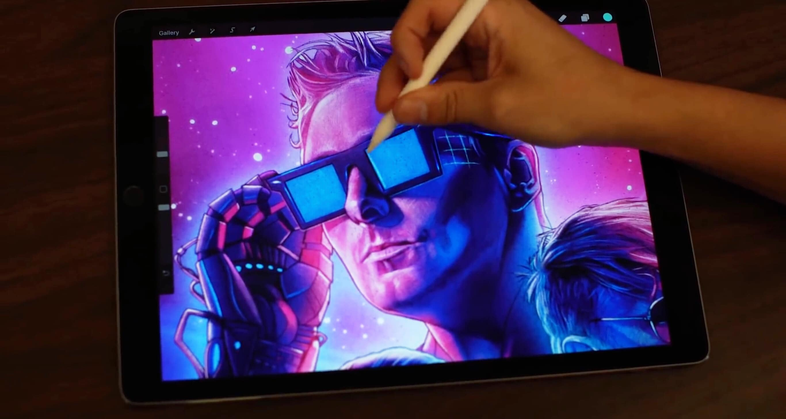 An iPad Pro is the canvas for the artwork for Muse's Simulation Theory album.