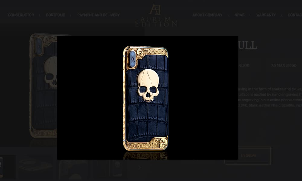 Aurum Edition Sells An Iphone Xs With Gold Skull Featuring Diamond