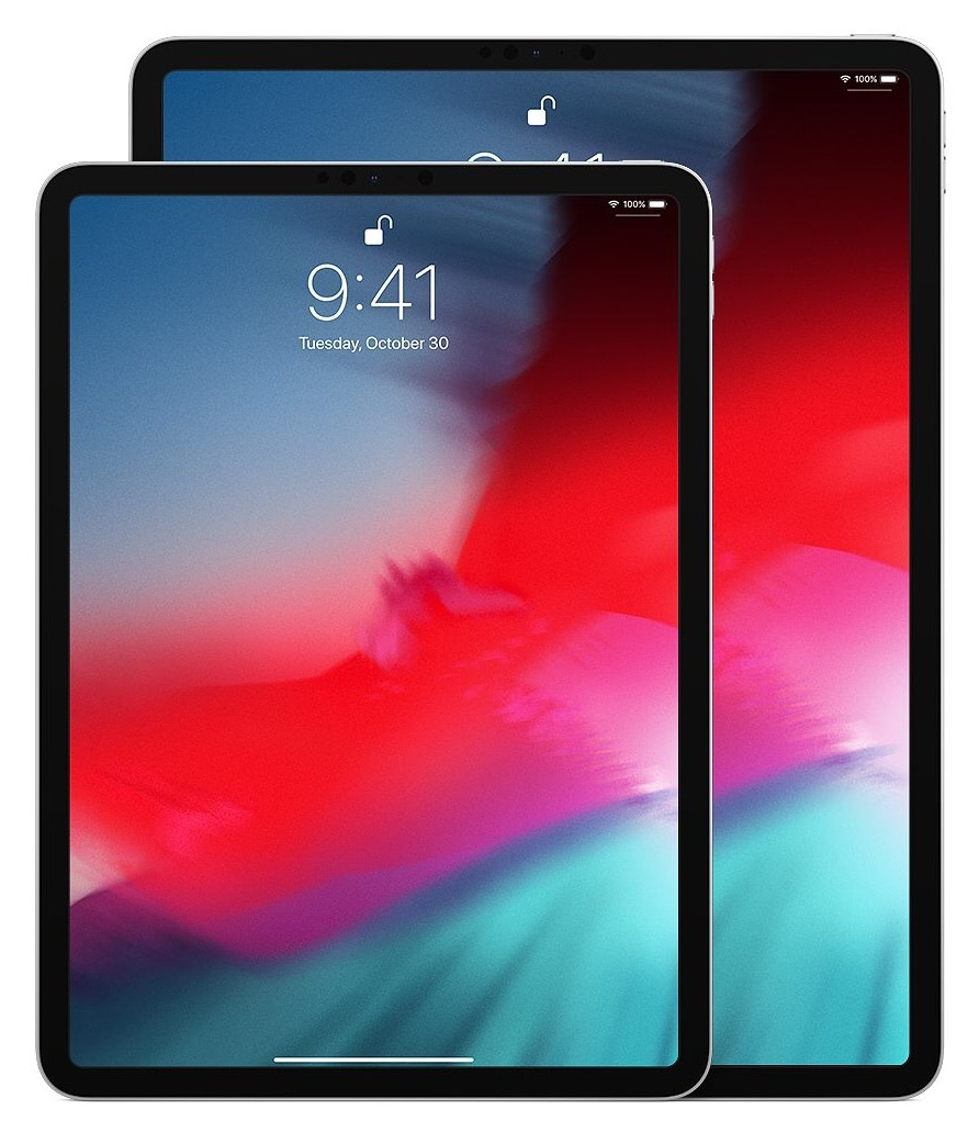 The 11- and 12.9-inch versions of the 2018 iPad Pro.