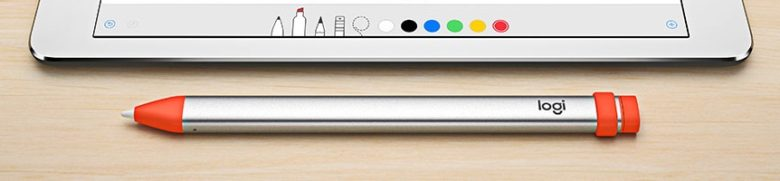 A Logitech Crayon is less slick than an Apple Pencil, and harder for a child to disassemble.