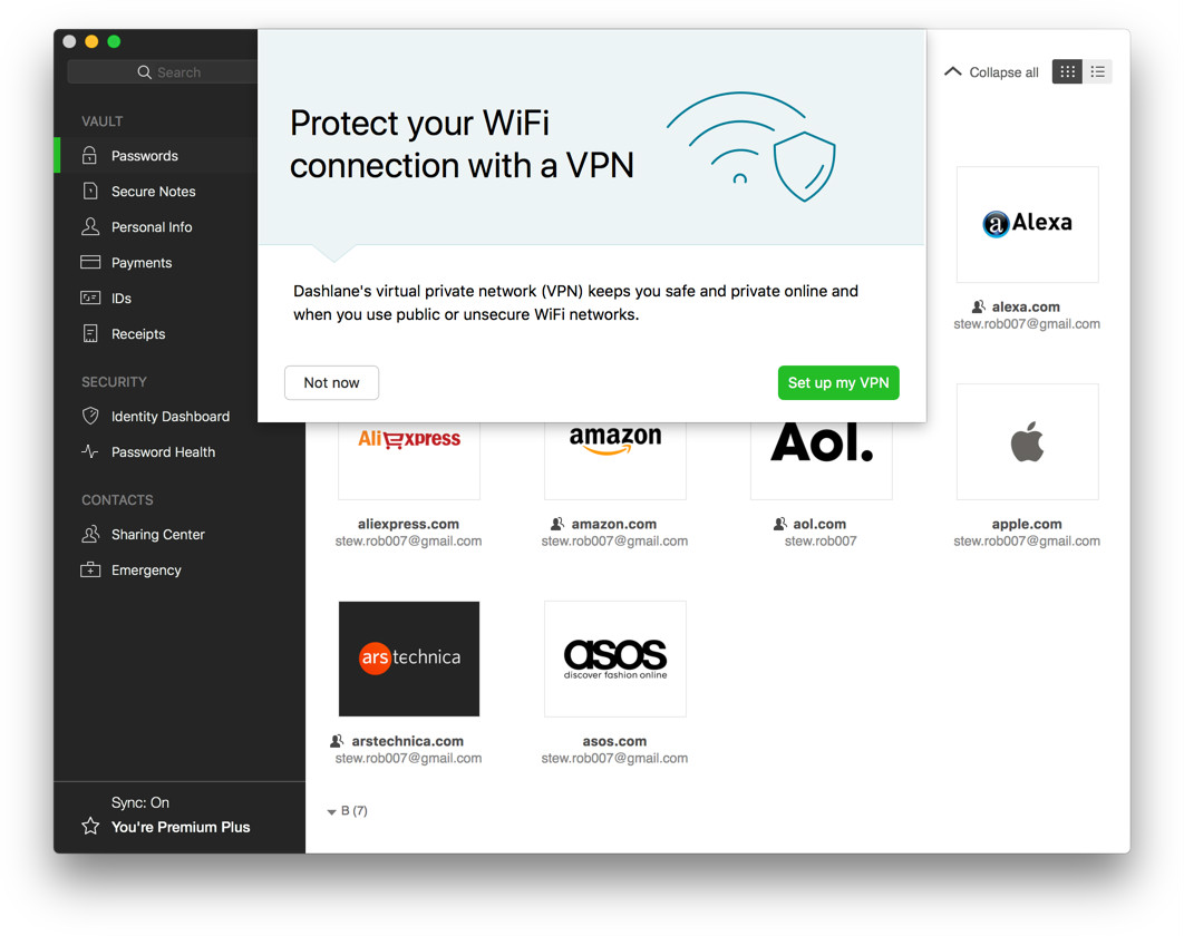 Image result for dashlane vpn