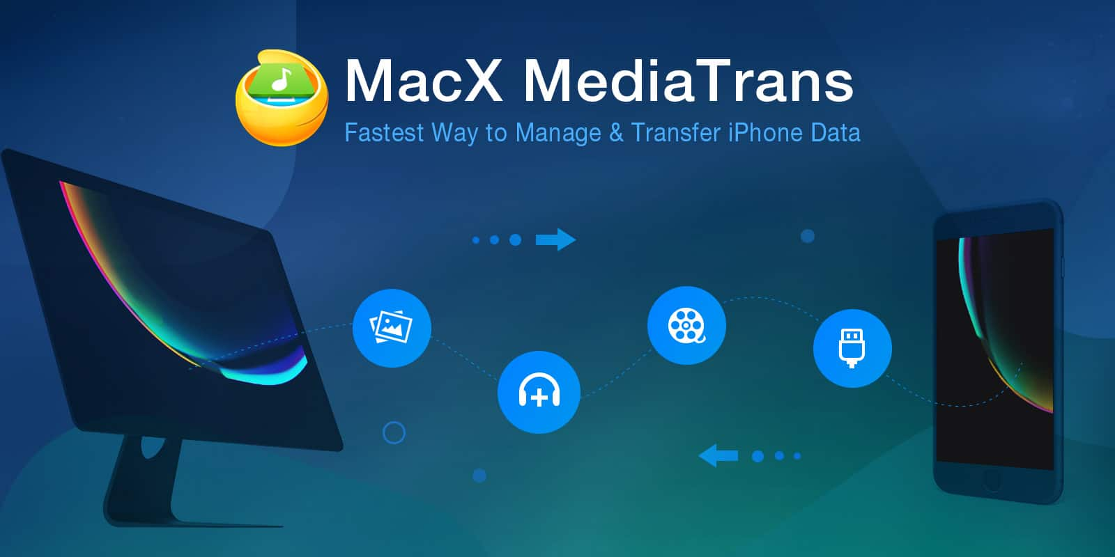 Get MacX MediaTrans for free and forget about iTunes for transferring data between iPhone and Mac.