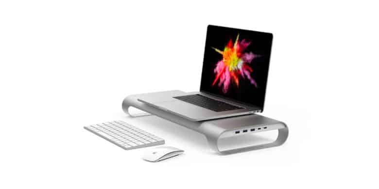 This stand is packed with features, with expanded MacBook port options, storage, and lots more.