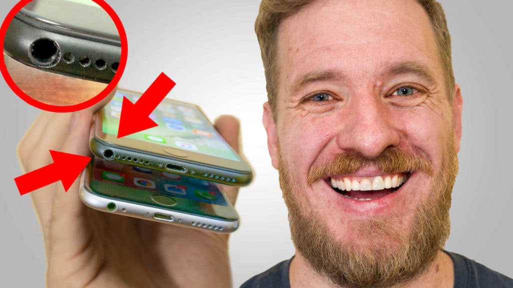 Scotty Allen drilled a headphone jack into an iPhone 7, but cautions against trying this iPhone mod at home