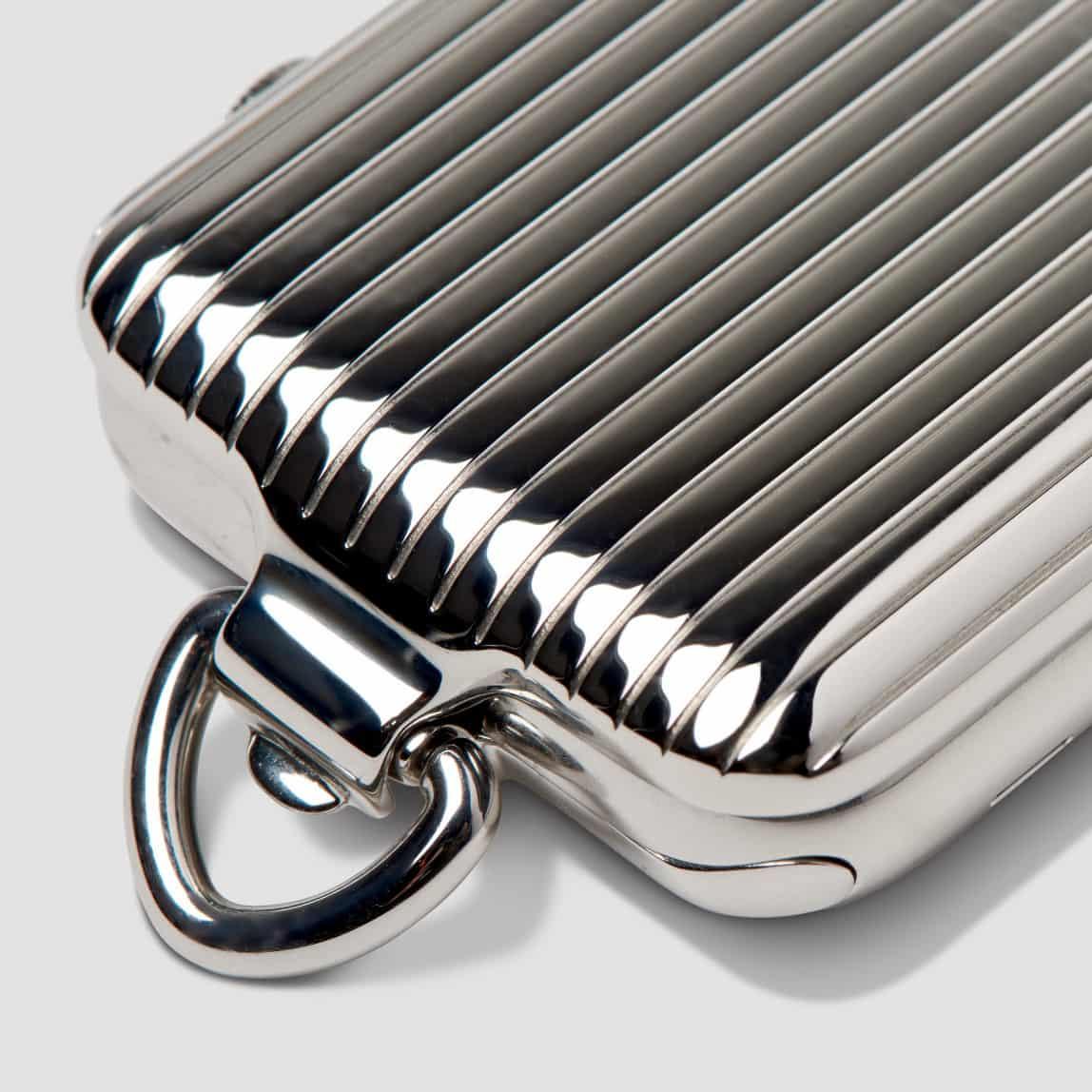 Bucardo Silver Pinstripe Pocket Watch