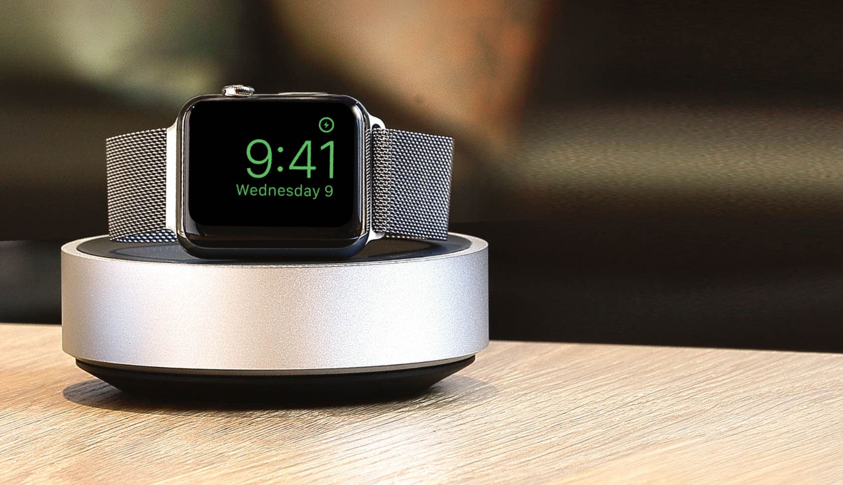 The HoverDock for Apple Watch is perfect for Nightstand mode.
