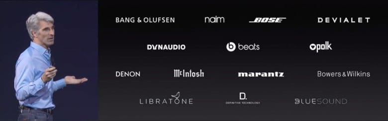 WWDC 2017 AirPlay 2 device makers