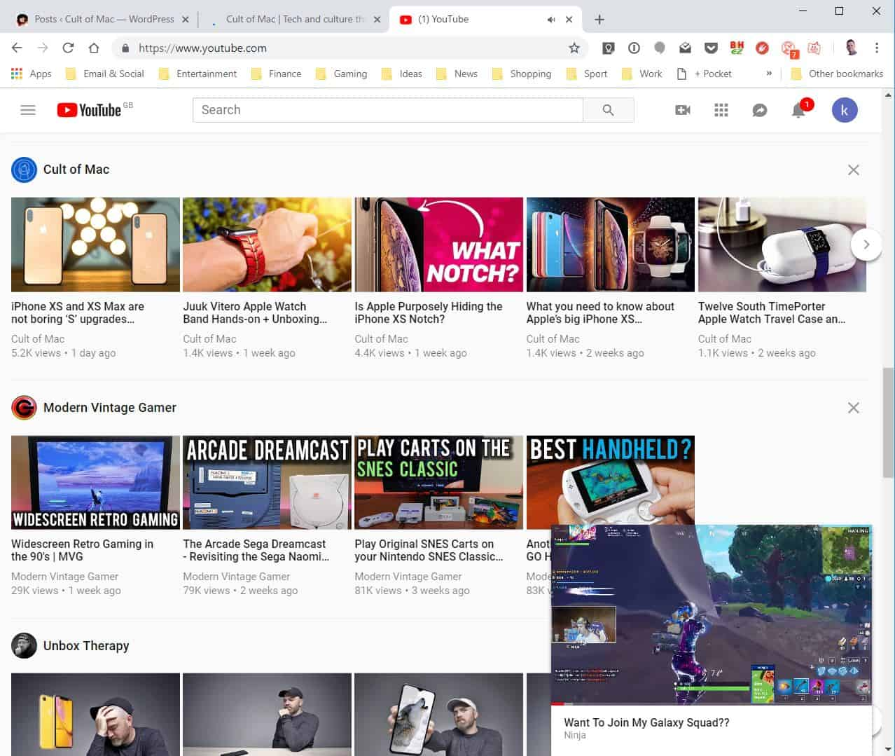 YouTube miniplayer Chrome