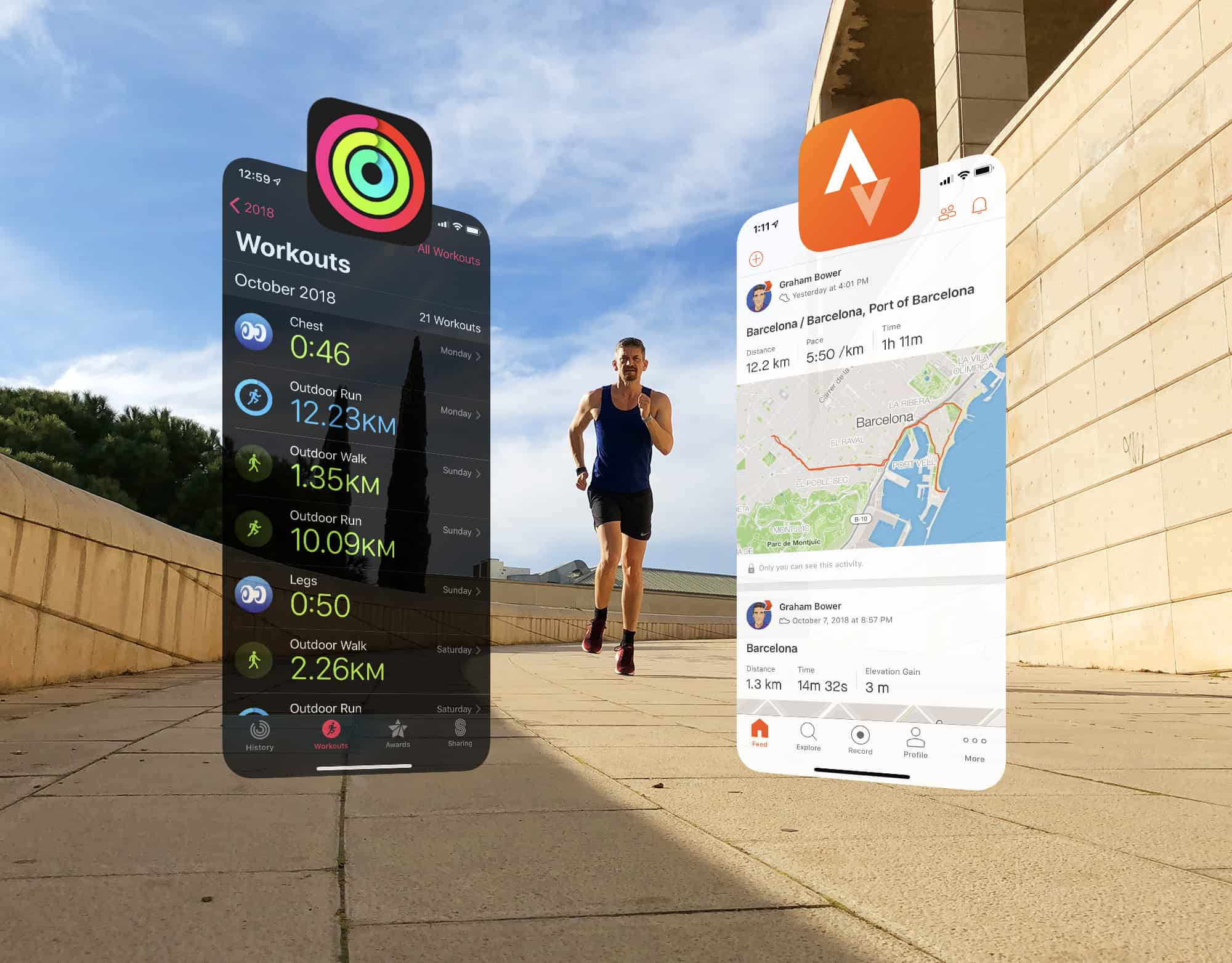 Sync Apple Workout app with Strava to get the best of both worlds.