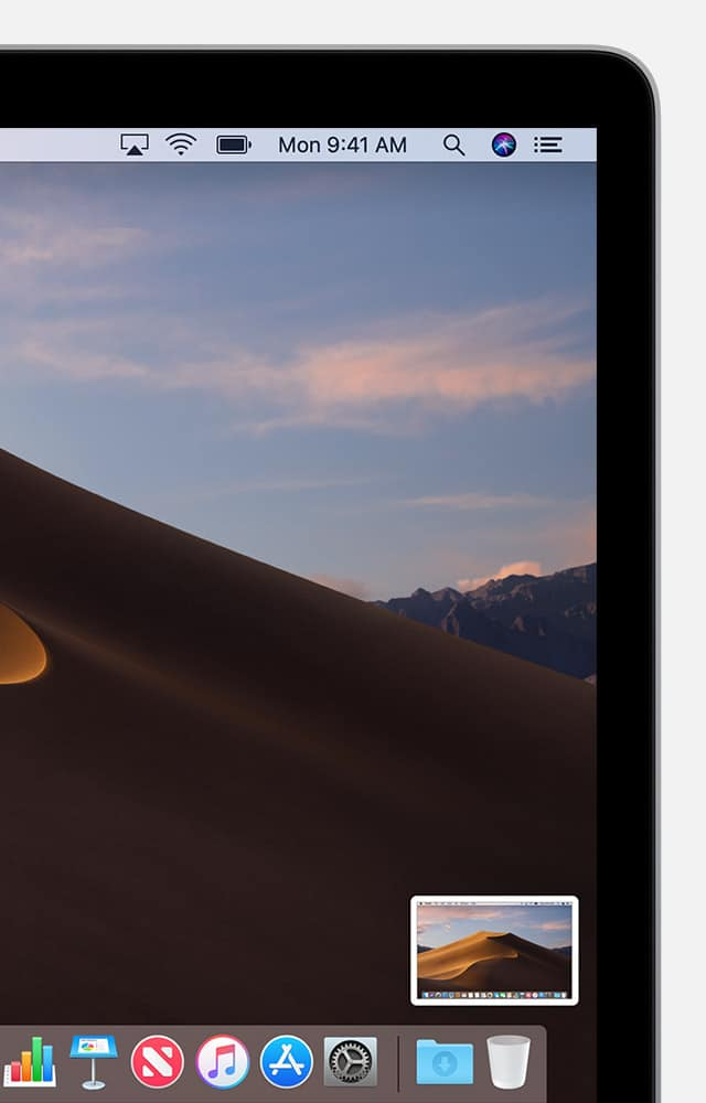 Just like iOS, Mojave shows a floating thumbnail of your Mac screen captures.