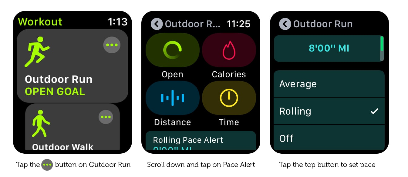 Setting up Apple Watch pace alerts is simple.
