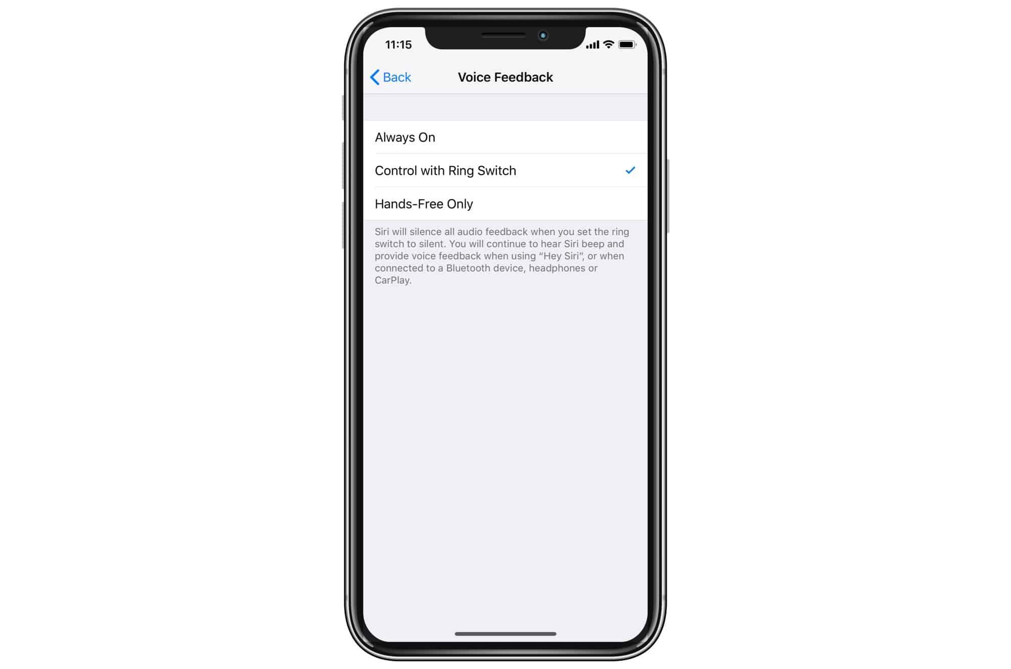 Use Mute Siri to shut Siri up.
