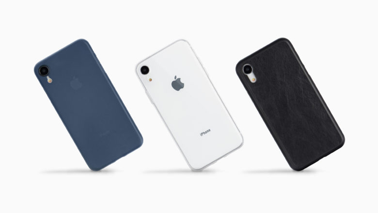 Totallee's iPhone XR cases are available in totally transparent or colored hues, with glossy, textured, and leather finishes.