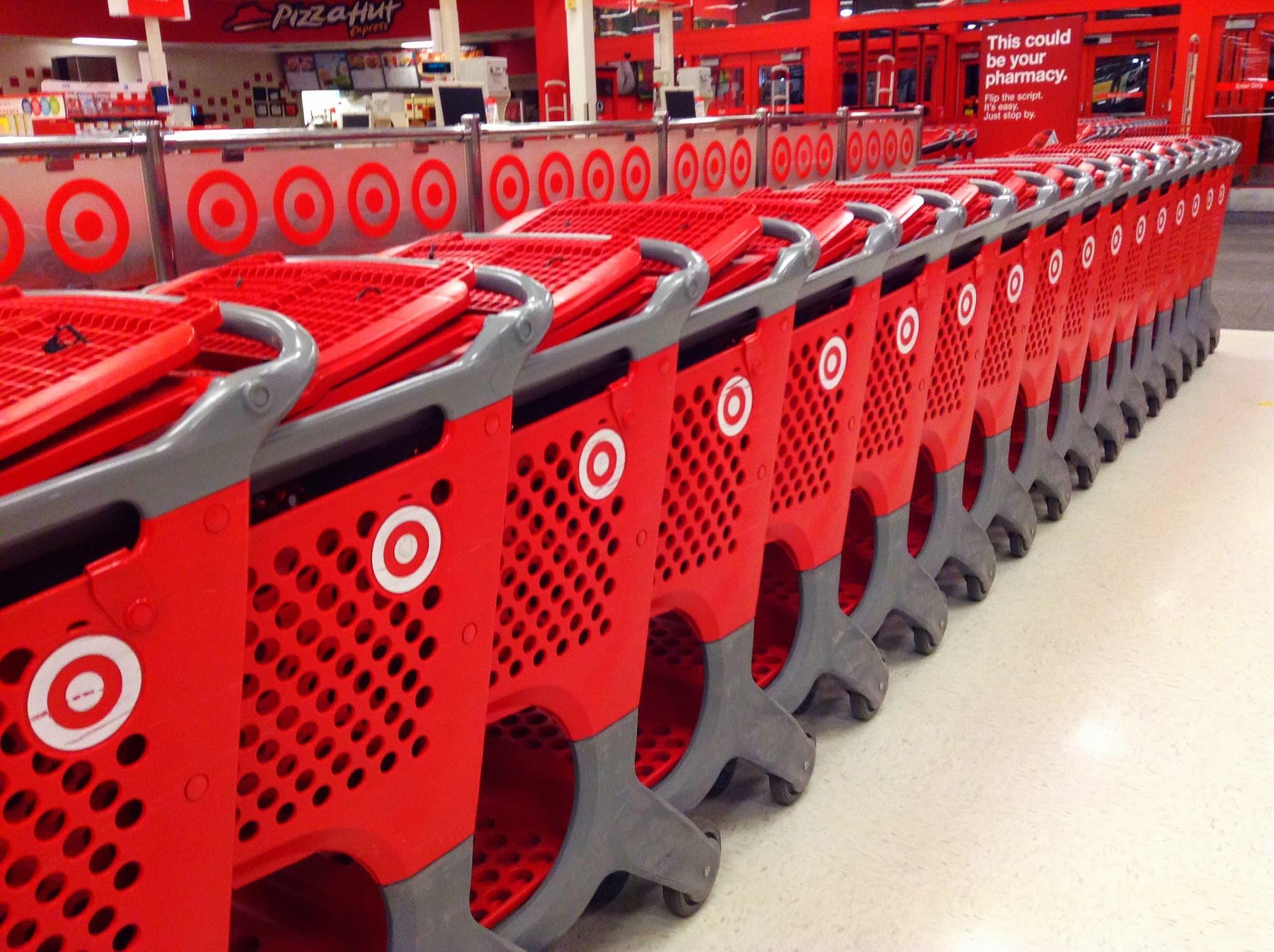 Target trolleys in store