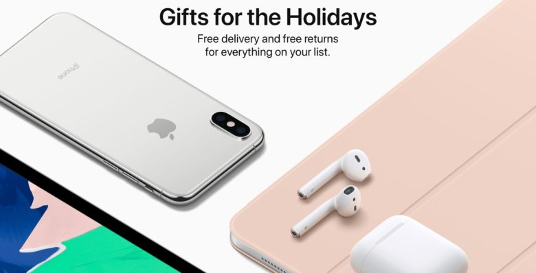 Apple gifts bought now can be returned in January.