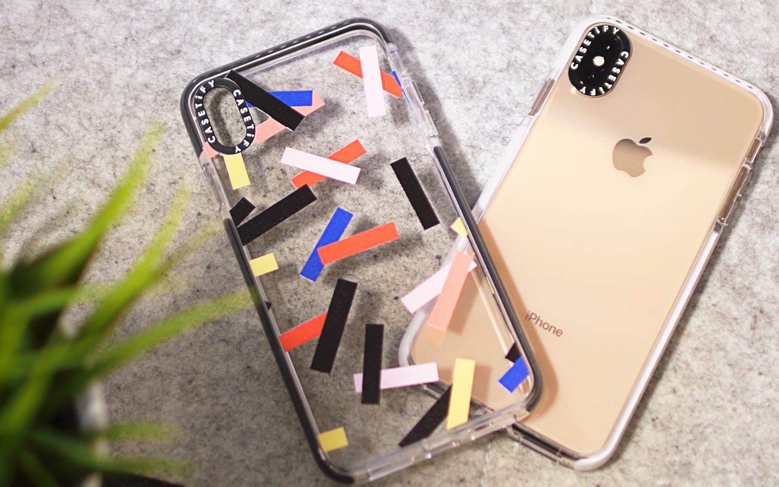 The Casetify Impact cases come in clear models as well as much more colorful options like Confetti.
