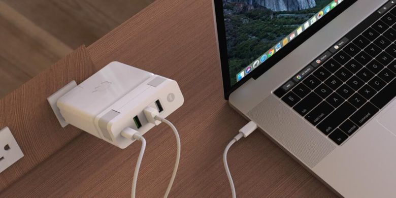 Cut down on the number of chargers and the cable clutter with a single power brick add-on.