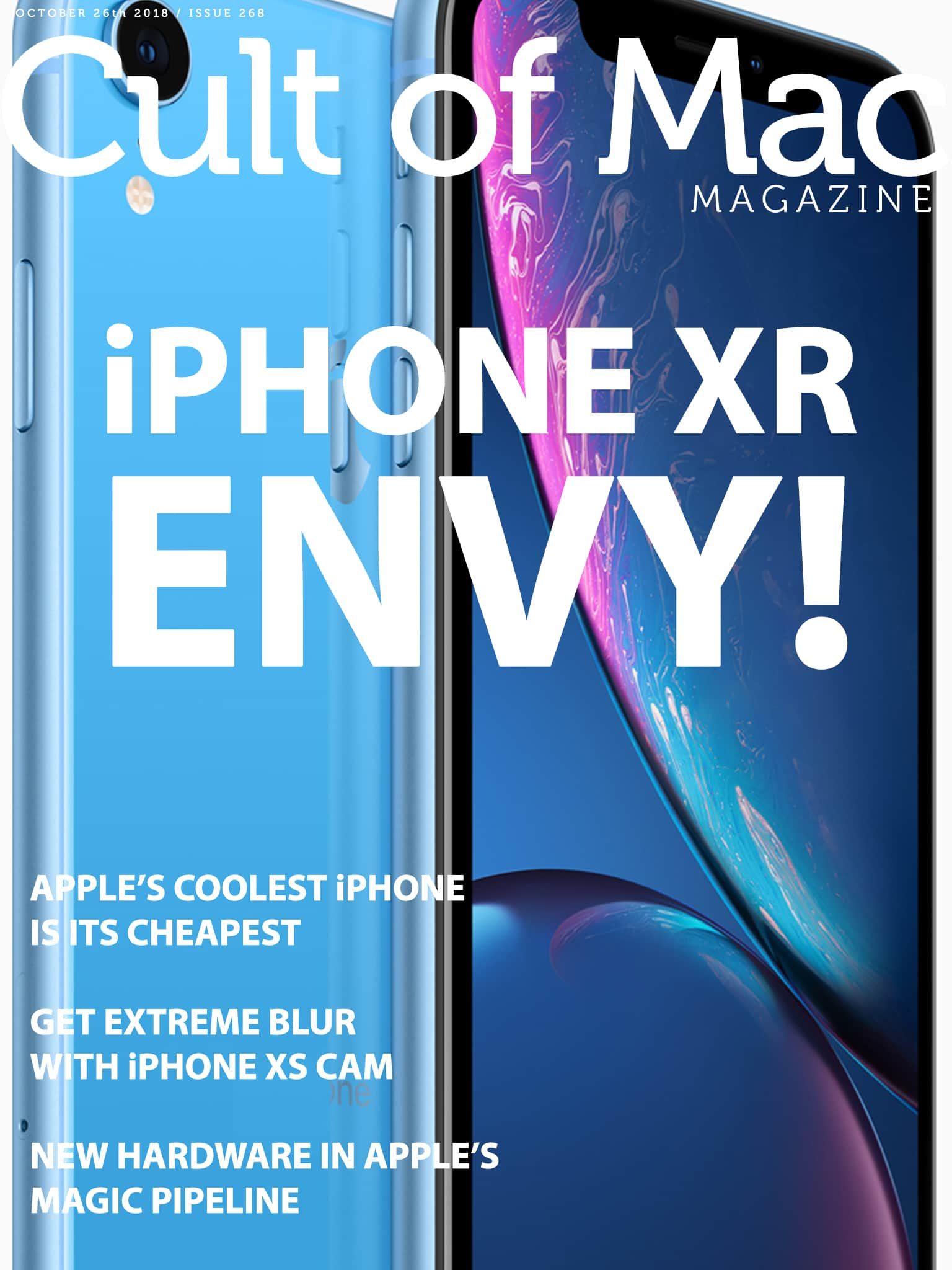 Just how good is the iPhone XR? We're head over heels! Read all about it in Cult of Mac Magazine Issue No. 268.