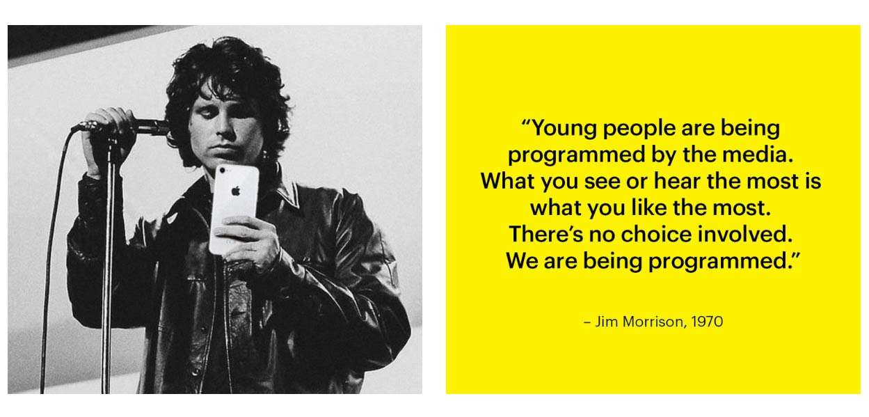 Jim Morrison with iPhone