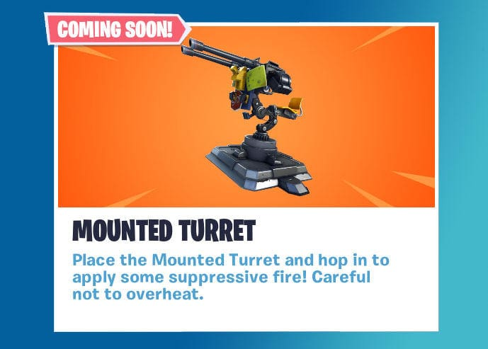 Fortnite mounted turret