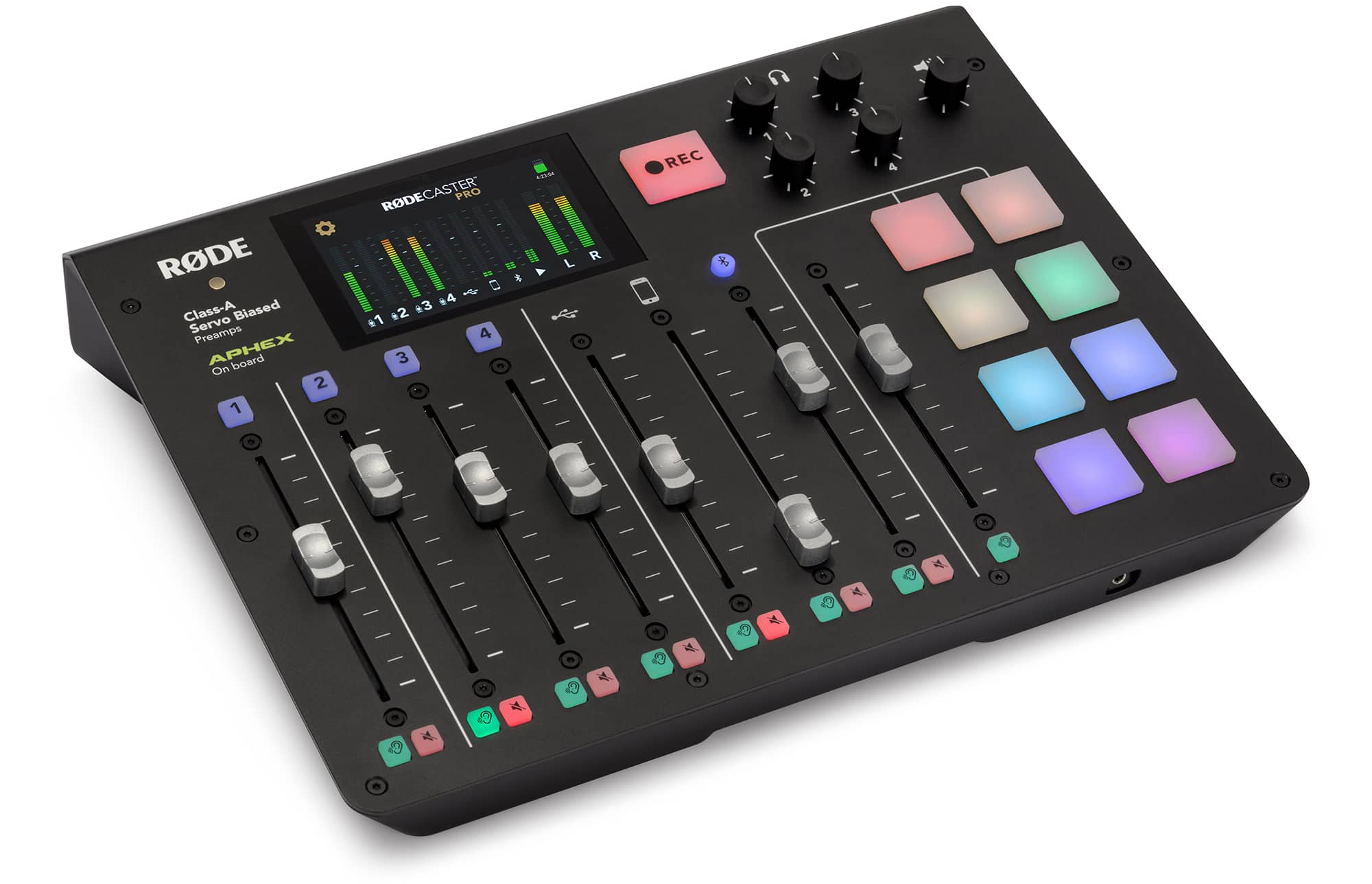 The RødeCaster Pro bundles everything you need to record a podcast in one box.